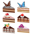 cake slices vector image vector image