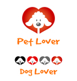 Dog Lover Symbol vector image