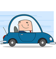 Business man driving car vector image vector image