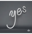 Yes 3d Word Agreement support and positive vector image