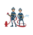 Two cartoon firefighters vector image
