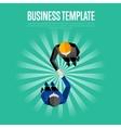 Business template Top view partners handshaking vector image