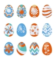 easter eggs isolated on white vector image