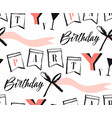 hand made abstract happy birthday greeting vector image