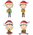 Happy Santa boys vector image