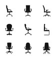 stool icons set simple style vector image