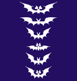 white silhouettes of bats vector image