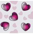 valentine seamless hearts pattern background vector image vector image