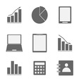 Business icon set on white background vector image vector image