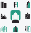 Buildings web icons set vector image