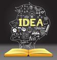 IDEA in human head shape vector image vector image