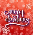 Merry Christmas Festive red background with vector image vector image