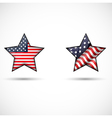 United States Flag Glossy of star symbol vector image