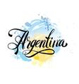 Argentina vintage card - vector image
