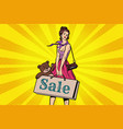 beautiful girl with soft toy bear discounts and vector image