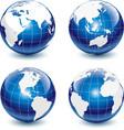 earth-globe icons vector image