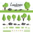 green landscape set vector image