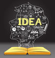 IDEA in human head shape vector image
