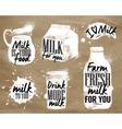 Milk symbolic drawing kraft vector image