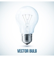 realistic lightbulb vector image