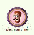 smiling face first april fool day happy holiday vector image