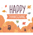 thanksgiving with pumpkins and text happy th vector image