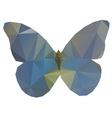 Triangle butterfly vector image