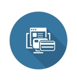 Online Payment Icon Flat Design vector image