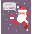 Santa Looking Out Corner Cartoon Character Happy vector image