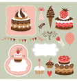 Set of Holiday elements vector image vector image