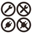 Repair und plug sumbols vector image