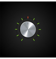 dial and glowing indicator vector image