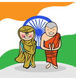 Welcome to India people vector image vector image