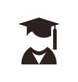 University avatar education icon vector