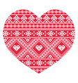 Traditional Ukrainian red folk art heart pattern vector image vector image