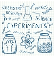 Sciientific experiments on squared paper vector image vector image