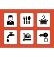 set hotel icons vector image