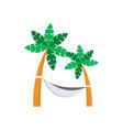 coconut tree hammock vector image