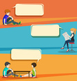 Conversation style infographic with people vector image