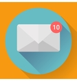 Mail Icon With Notification vector image
