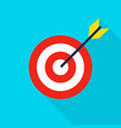 sport target flat icon vector image