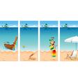 Vacation set vector image