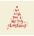 Calligraphy lettering Christmas tree vector image vector image