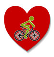 bicycle in the heart vector image