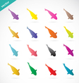 group of colorful koi fish vector image vector image