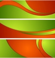 Bright corporate waves banners vector image