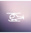 Helicopter thin line icon vector image