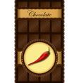 chili chocolate bar vector image