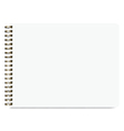 Blank Realistic Sketchbook Isolated On White vector image