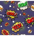 Colorful speech bubbles and explosions in pop art vector image